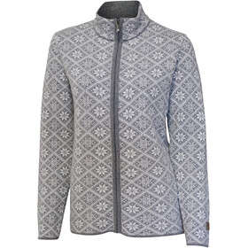 Ivanhoe of Sweden Elsie Full Zip Cardigan Women grey marl